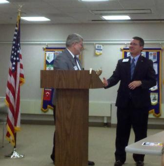 District Governor Gordon Jumper with Canton President Jim Stratton